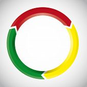 Vector Colorful Circular Arrow Chart
