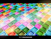 Vector 3d glossy background