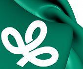 Flag Of Miyagi Prefecture, Japan.