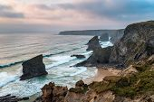 Bedruthan Steps In Cornwall