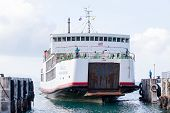 Ferry Conveying Passengers And Goods, Thailand