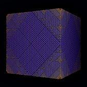 purple rhombs surface cube