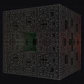 dark cross pattée cube