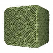 Solid Green Cube