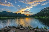 Lilly Lake At Sunset - Colorado