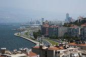 Izmir cityscape from historical elevator