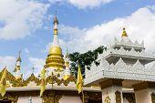 Shan Pagoda In Wat Fah Wiang In, Wianghaeng Chiangmai Thailand