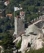 Tower of the Castle of the Moors in Sintra, Portugal