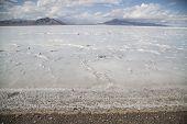 Beautiful Bonneville Salt Flats After A Summer Rain Storm