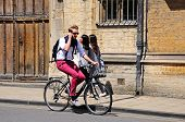 Cyclist in Oxford.