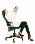 Medical. Woman Doctor Using Computer Laptop