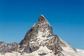 Beautiful Landscape Mountains In Matterhorn, Zermatt, Switzerland