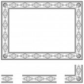 Frame and modular elements to create others at any size