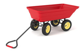 stock photo of hand-barrow  - Hand trolley isolated on white background 3d - JPG