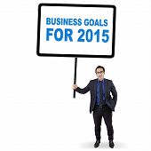 Employee With Business Goals For 2015