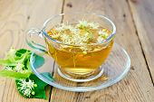 picture of linden-tree  - Herbal tea in a glass cup - JPG