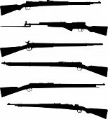 Six old shotguns