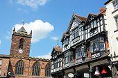 Tudor buildings and church, Chester.