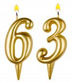 Birthday Candles Number Sixty Three