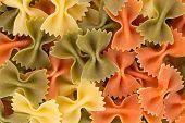 farfalle pasta three colors