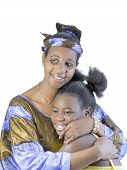 Mother and daughter, filial love, isolated