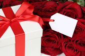 Gift Box With Copyspace For Birthday Gifts, Valentine's Or Mother's Day