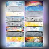 stock photo of web template  - Big colored abstract banners set - JPG