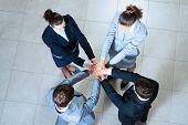 business people symbol of teamwork