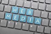 Blue web media key on keyboard