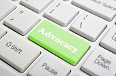 Green advocacy key on keyboard