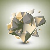 Abstract dimensional polygonal geometric background for modern design