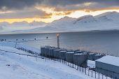 Barentsburg Port  - Russian Village On Spitsbergen