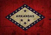 Grunge flag of Arkansas