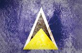 Saint Lucia flag on grunge paper