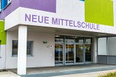new secondary school, symbol for education and school reform