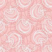 Pink Apple Pattern
