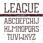 Serif Font Medium In The Style Of College
