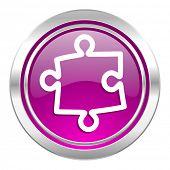 puzzle violet icon
