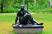 Woman Sculpture In A Beatiful Druskininkai City