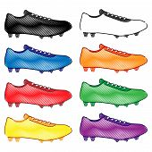 Football Cleats In Different Colours Pencil Style 2