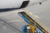 Conveyor for an aircraft