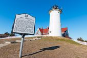 picture of cod  - Noska Lighthouse in Woods Hole Cape Cod - JPG