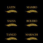 Golden Laurel Latin Music Genres: Mambo, Salsa, Bolero, Tango and Mariachi