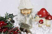 Happy elf girl