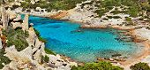 azure sea of Sardegna island , Italy