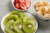 Fresh Kiwi,  Strawberry, Banana