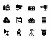 Silhouette Photography equipment and tools iconsSilhouette Photography equipment and tools icons