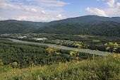 View from a mountain on the river