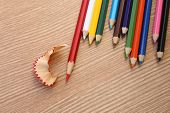 Sharpening Red Color Pencil