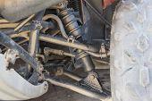Closeup Of Atv Chassis Suspension